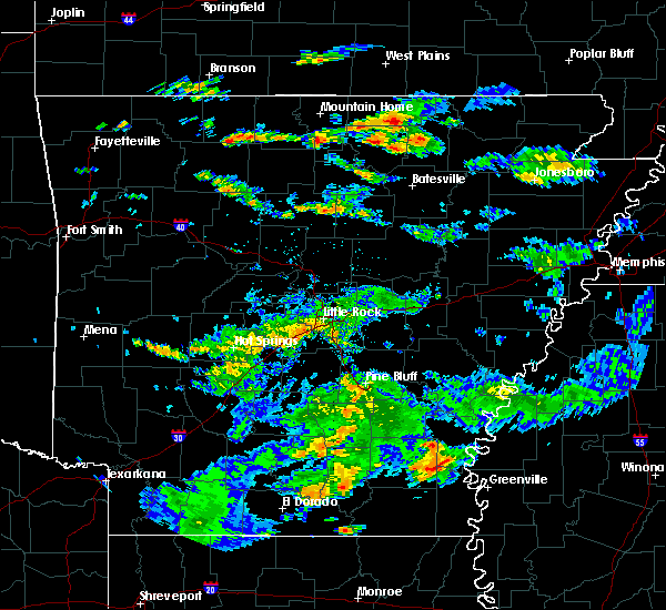 Radar Image for Severe Thunderstorms near Watson, AR at 7/3/2015 3:32 PM CDT