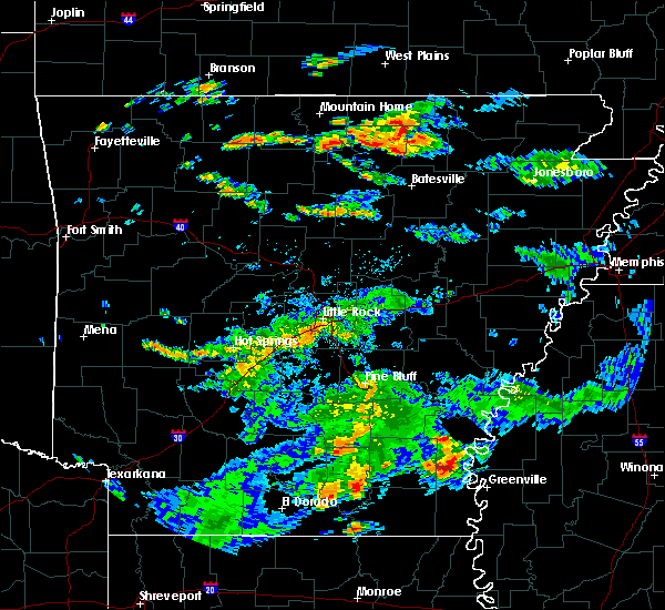 Radar Image for Severe Thunderstorms near Watson, AR at 7/3/2015 3:43 PM CDT