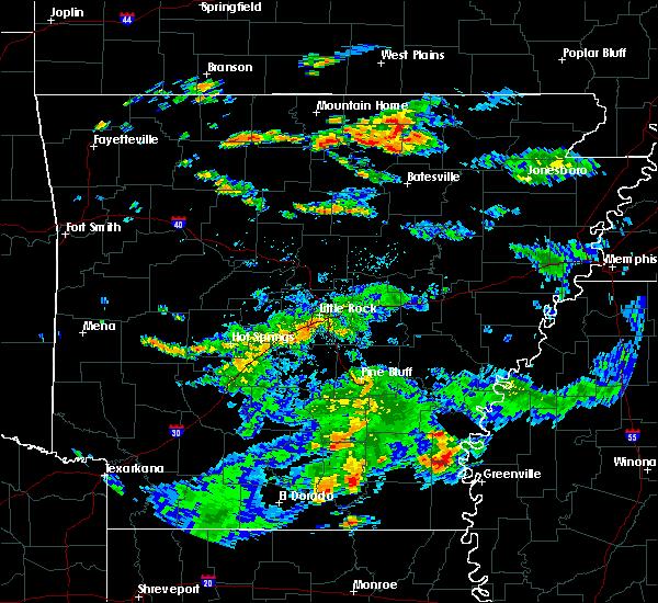 Radar Image for Severe Thunderstorms near Arkansas City, AR at 7/3/2015 3:59 PM CDT