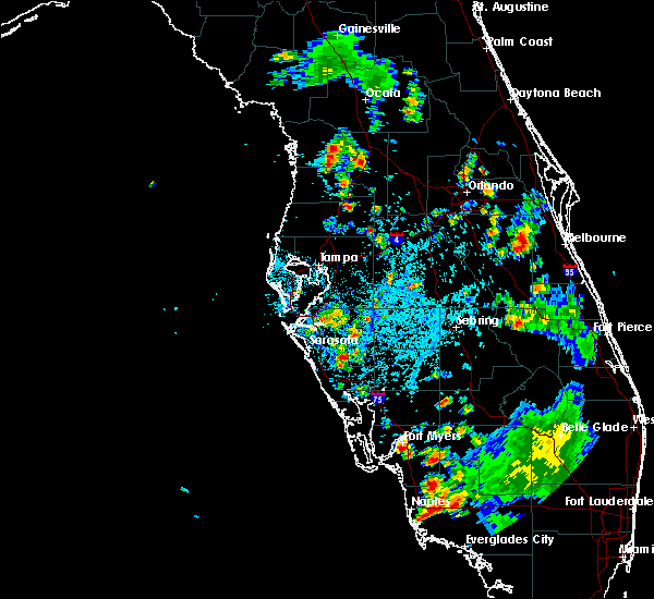 Radar Image for Severe Thunderstorms near Lochmoor Waterway Estates, FL at 7/3/2015 5:23 PM EDT