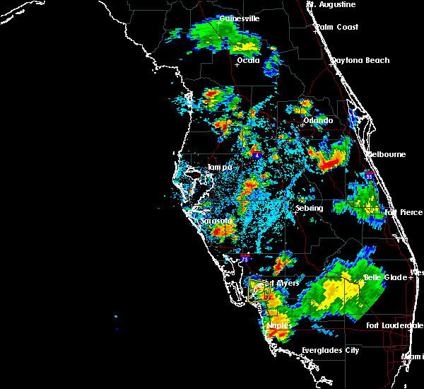 Radar Image for Severe Thunderstorms near Lochmoor Waterway Estates, FL at 7/3/2015 5:58 PM EDT