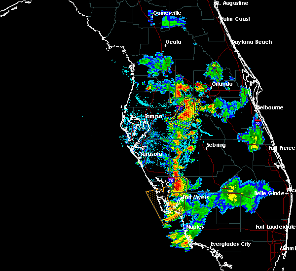Radar Image for Severe Thunderstorms near Southeast Arcadia, FL at 7/3/2015 6:58 PM EDT