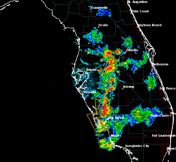 Radar Image for Severe Thunderstorms near Four Corners, FL at 7/3/2015 7:11 PM EDT