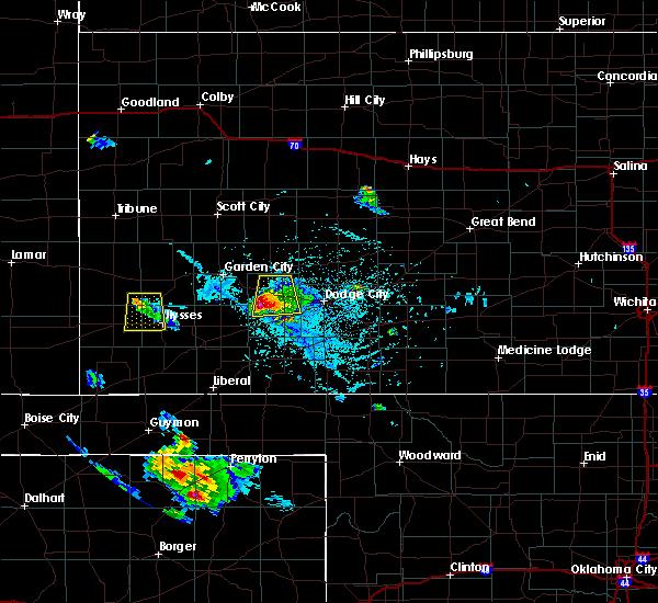 Radar Image for Severe Thunderstorms near Plains, KS at 7/3/2015 6:17 PM CDT