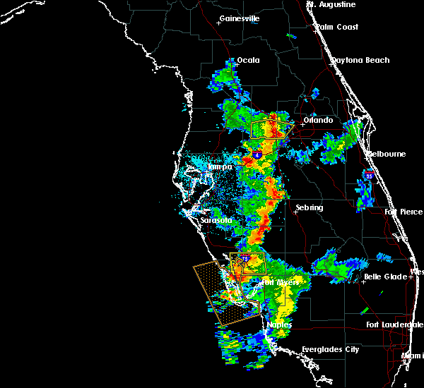 Radar Image for Severe Thunderstorms near Groveland, FL at 7/3/2015 7:37 PM EDT