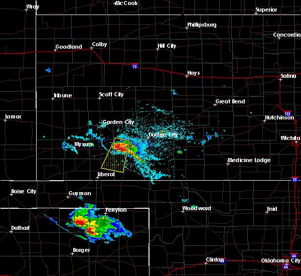 Radar Image for Severe Thunderstorms near Plains, KS at 7/3/2015 6:57 PM CDT