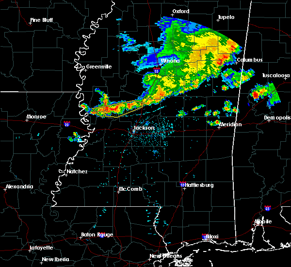 Radar Image for Severe Thunderstorms near Bentonia, MS at 7/3/2015 8:00 PM CDT