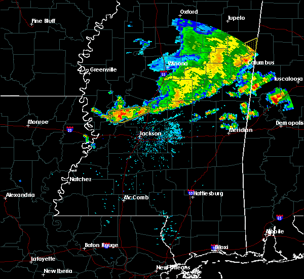 Radar Image for Severe Thunderstorms near Satartia, MS at 7/3/2015 8:12 PM CDT