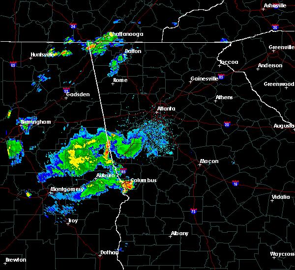 Radar Image for Severe Thunderstorms near LaGrange, GA at 7/3/2015 11:01 PM EDT