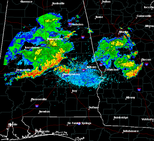 Radar Image for Severe Thunderstorms near Mount Olive, AL at 7/3/2015 11:33 PM CDT