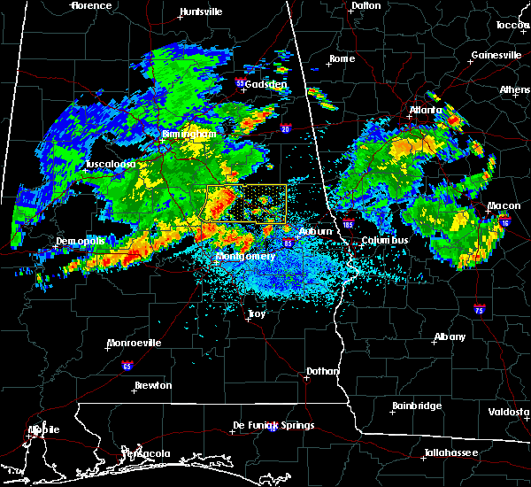 Radar Image for Severe Thunderstorms near Hissop, AL at 7/3/2015 11:47 PM CDT