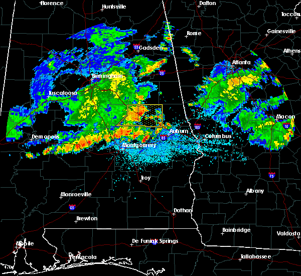 Radar Image for Severe Thunderstorms near Dadeville, AL at 7/4/2015 12:01 AM CDT