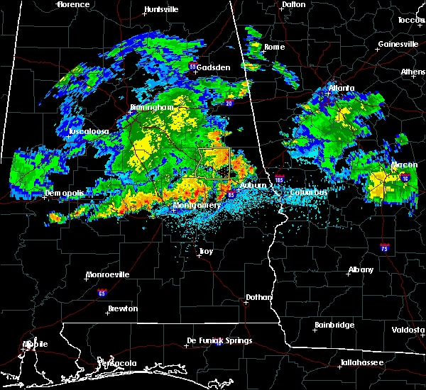 Radar Image for Severe Thunderstorms near Dadeville, AL at 7/4/2015 12:24 AM CDT