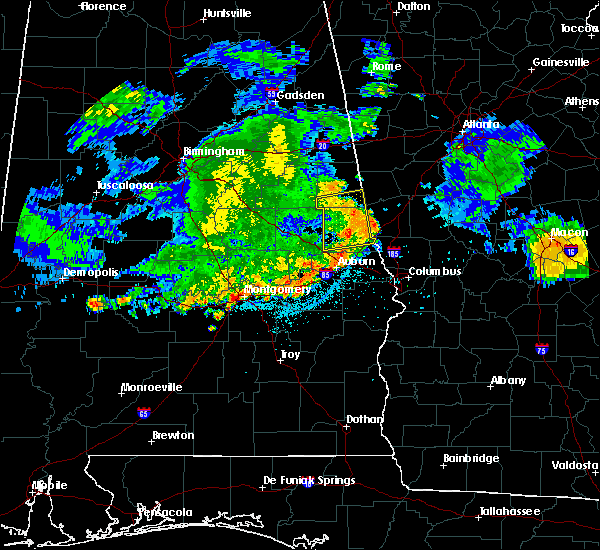 Radar Image for Severe Thunderstorms near Roanoke, AL at 7/4/2015 12:34 AM CDT