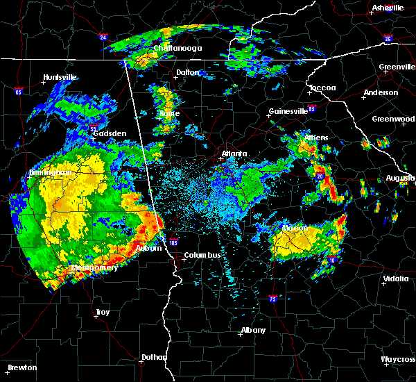 Radar Image for Severe Thunderstorms near LaGrange, GA at 7/4/2015 1:39 AM EDT