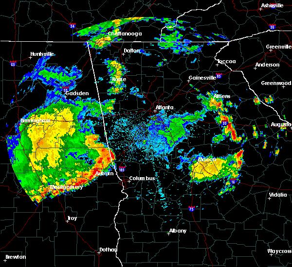 Radar Image for Severe Thunderstorms near LaGrange, GA at 7/4/2015 1:39 AM EDT