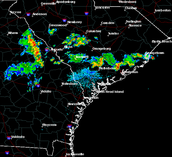 Radar Image for Severe Thunderstorms near Summerville, SC at 7/4/2015 2:22 AM EDT