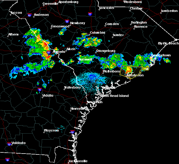 Radar Image for Severe Thunderstorms near North Charleston, SC at 7/4/2015 2:41 AM EDT