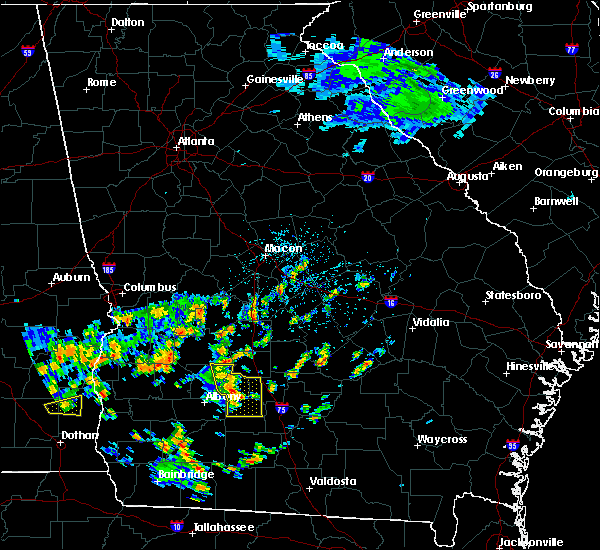 Radar Image for Severe Thunderstorms near Unadilla, GA at 7/4/2015 1:35 PM EDT