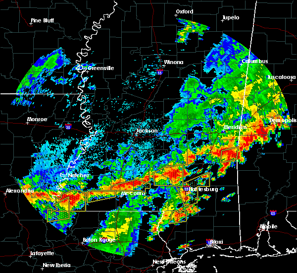 Radar Image for Severe Thunderstorms near Prentiss, MS at 7/4/2015 2:37 PM CDT