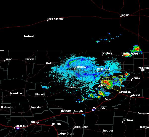 Radar Image for Severe Thunderstorms near Fox Lake, MT at 7/4/2015 1:53 PM MDT