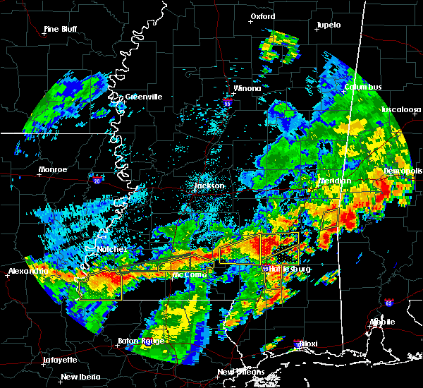 Radar Image for Severe Thunderstorms near Bogue Chitto, MS at 7/4/2015 2:55 PM CDT