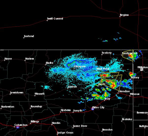 Radar Image for Severe Thunderstorms near Fox Lake, MT at 7/4/2015 2:14 PM MDT