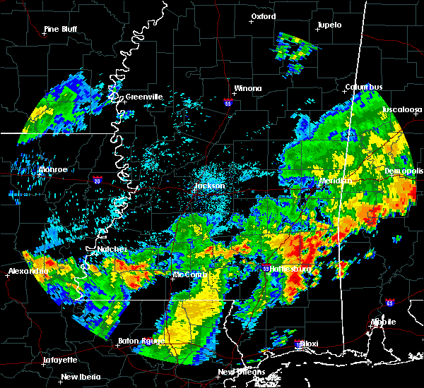 Radar Image for Severe Thunderstorms near Ellisville, MS at 7/4/2015 3:17 PM CDT