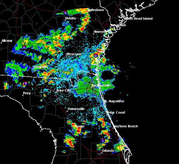 Radar Image for Severe Thunderstorms near Silver Springs Shores, FL at 7/4/2015 4:43 PM EDT