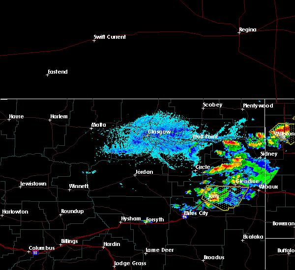 Radar Image for Severe Thunderstorms near Brockton, MT at 7/4/2015 3:18 PM MDT