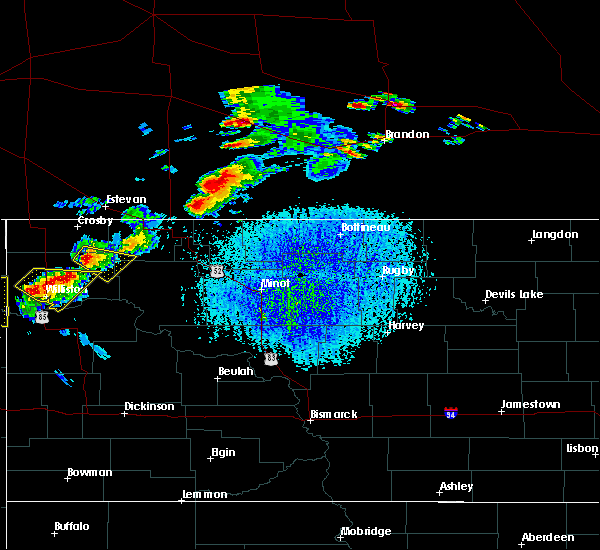 Radar Image for Severe Thunderstorms near Tioga, ND at 7/4/2015 4:29 PM CDT