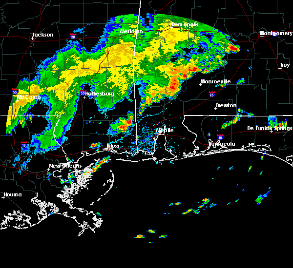 Radar Image for Severe Thunderstorms near Monroeville, AL at 7/4/2015 4:43 PM CDT