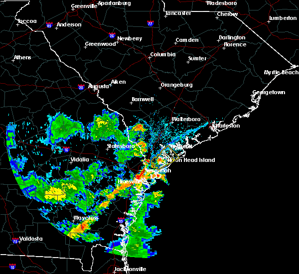 Radar Image for Severe Thunderstorms near Bluffton, SC at 7/4/2015 5:56 PM EDT