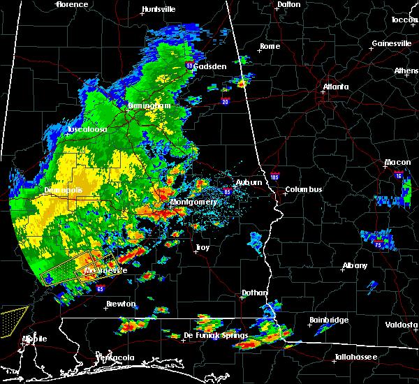 Radar Image for Severe Thunderstorms near Georgiana, AL at 7/4/2015 5:16 PM CDT