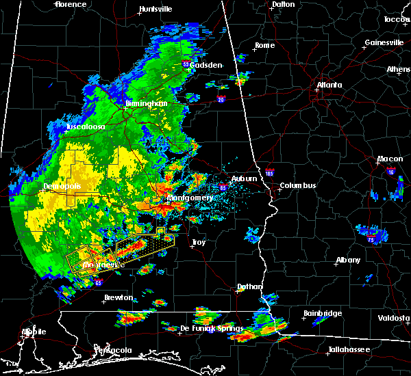 Radar Image for Severe Thunderstorms near Montgomery, AL at 7/4/2015 5:41 PM CDT