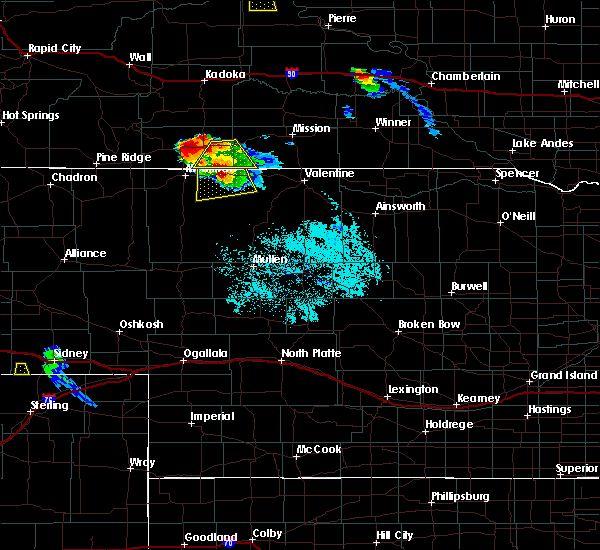 Radar Image for Severe Thunderstorms near Cody, NE at 7/4/2015 8:59 PM MDT