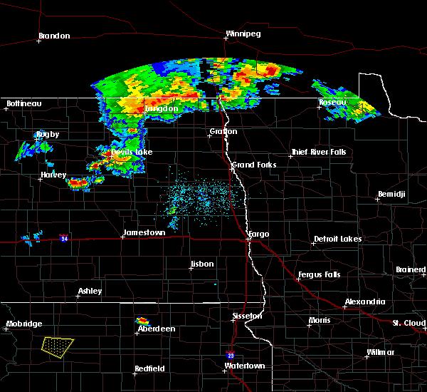 Radar Image for Severe Thunderstorms near New Rockford, ND at 7/4/2015 10:58 PM CDT