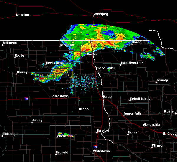 Radar Image for Severe Thunderstorms near New Rockford, ND at 7/5/2015 12:06 AM CDT