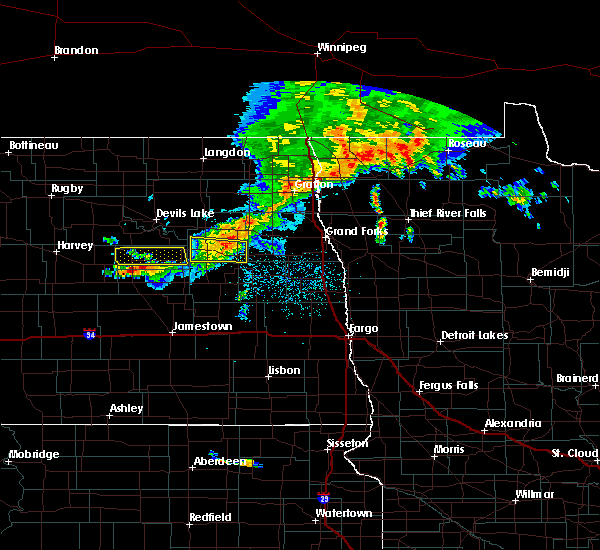 Radar Image for Severe Thunderstorms near McHenry, ND at 7/5/2015 12:21 AM CDT