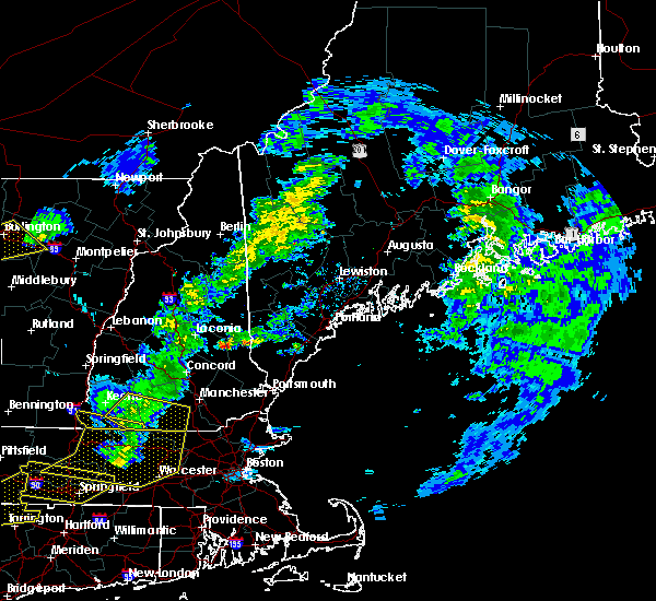 Radar Image for Severe Thunderstorms near Milton, NH at 10/7/2020 5:14 PM EDT