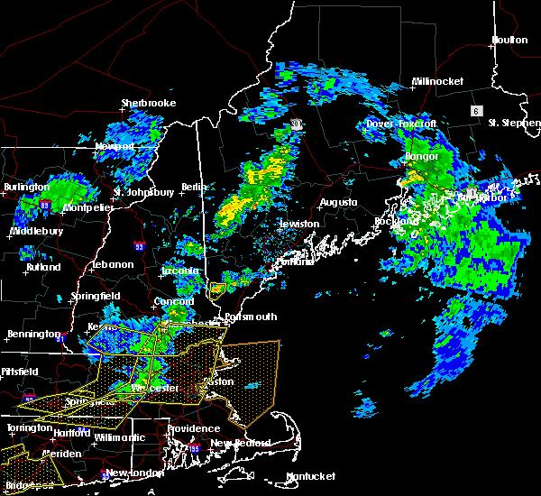 Radar Image for Severe Thunderstorms near Sanford, ME at 10/7/2020 5:36 PM EDT