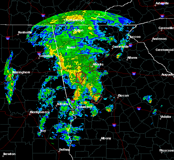 Radar Image for Severe Thunderstorms near Concord, GA at 10/10/2020 6:24 PM EDT
