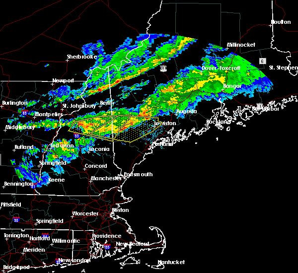 Radar Image for Severe Thunderstorms near North Conway, NH at 10/10/2020 8:43 PM EDT