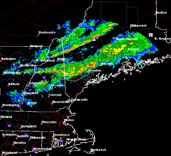 Radar Image for Severe Thunderstorms near Naples, ME at 10/10/2020 8:57 PM EDT