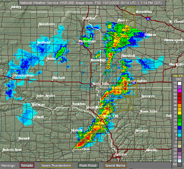 Radar Image for Severe Thunderstorms near Larrabee, IA at 10/11/2020 7:23 PM CDT