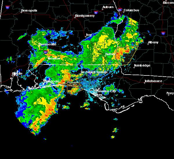 Radar Image for Severe Thunderstorms near Ponce de Leon, FL at 7/5/2015 9:25 AM CDT