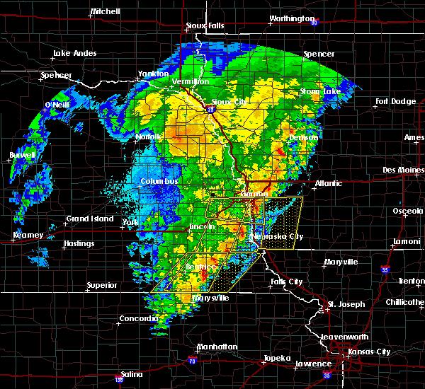 Radar Image for Severe Thunderstorms near Du Bois, NE at 10/11/2020 10:48 PM CDT