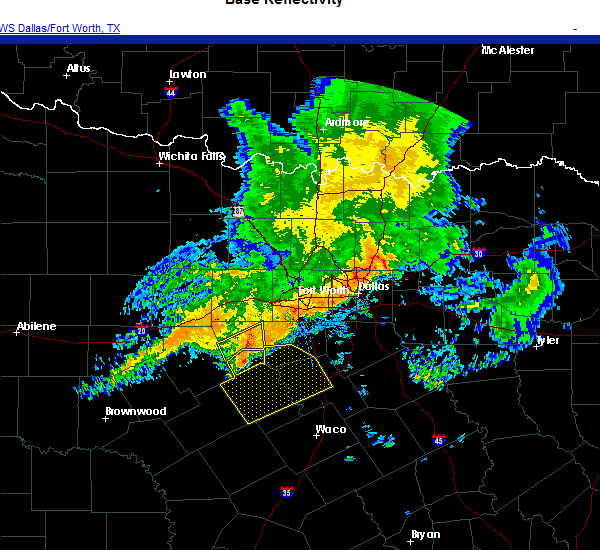 Radar Image for Severe Thunderstorms near Meridian, TX at 10/23/2020 7:57 AM CDT