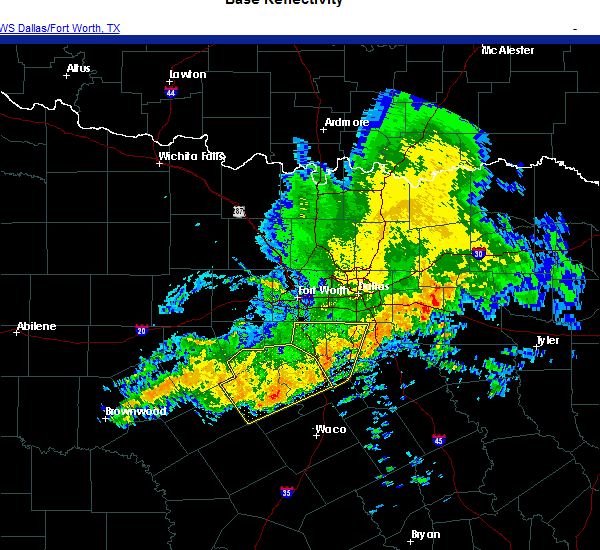 Radar Image for Severe Thunderstorms near Meridian, TX at 10/23/2020 8:57 AM CDT