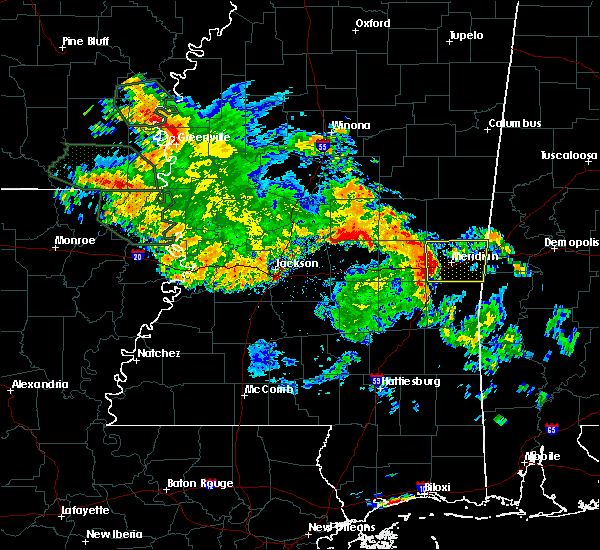 Radar Image for Severe Thunderstorms near Lauderdale, MS at 7/5/2015 10:10 AM CDT